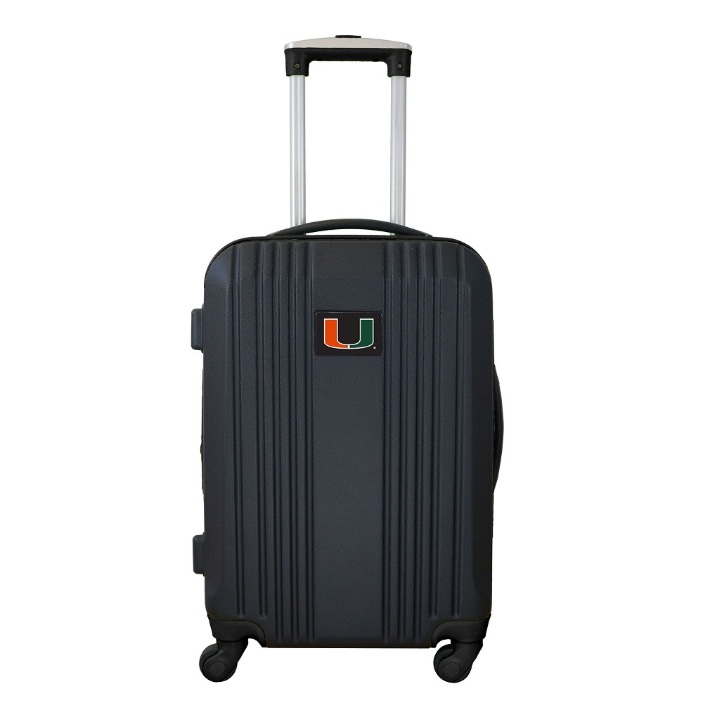 NCAA Miami Hurricanes 21 Hardcase Two-Tone Spinner Carry On Suitcase