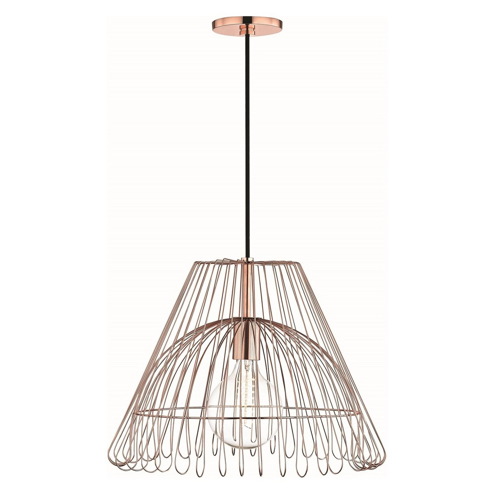 1pc Katie Large Light Pendant Copper (Brown) - Mitzi by Hudson Valley