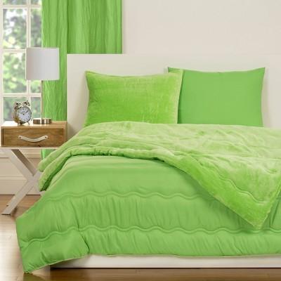 Crayola Playful Plush Green Comforter Set (Twin) 2pc