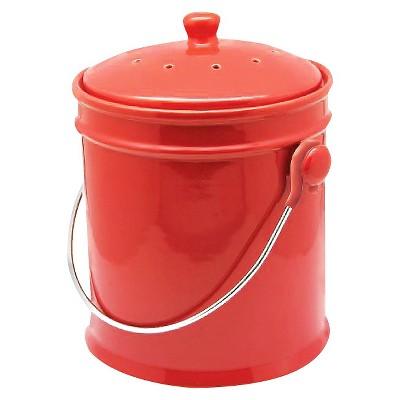 Natural Home® Ceramic Compost Bin   Cherry