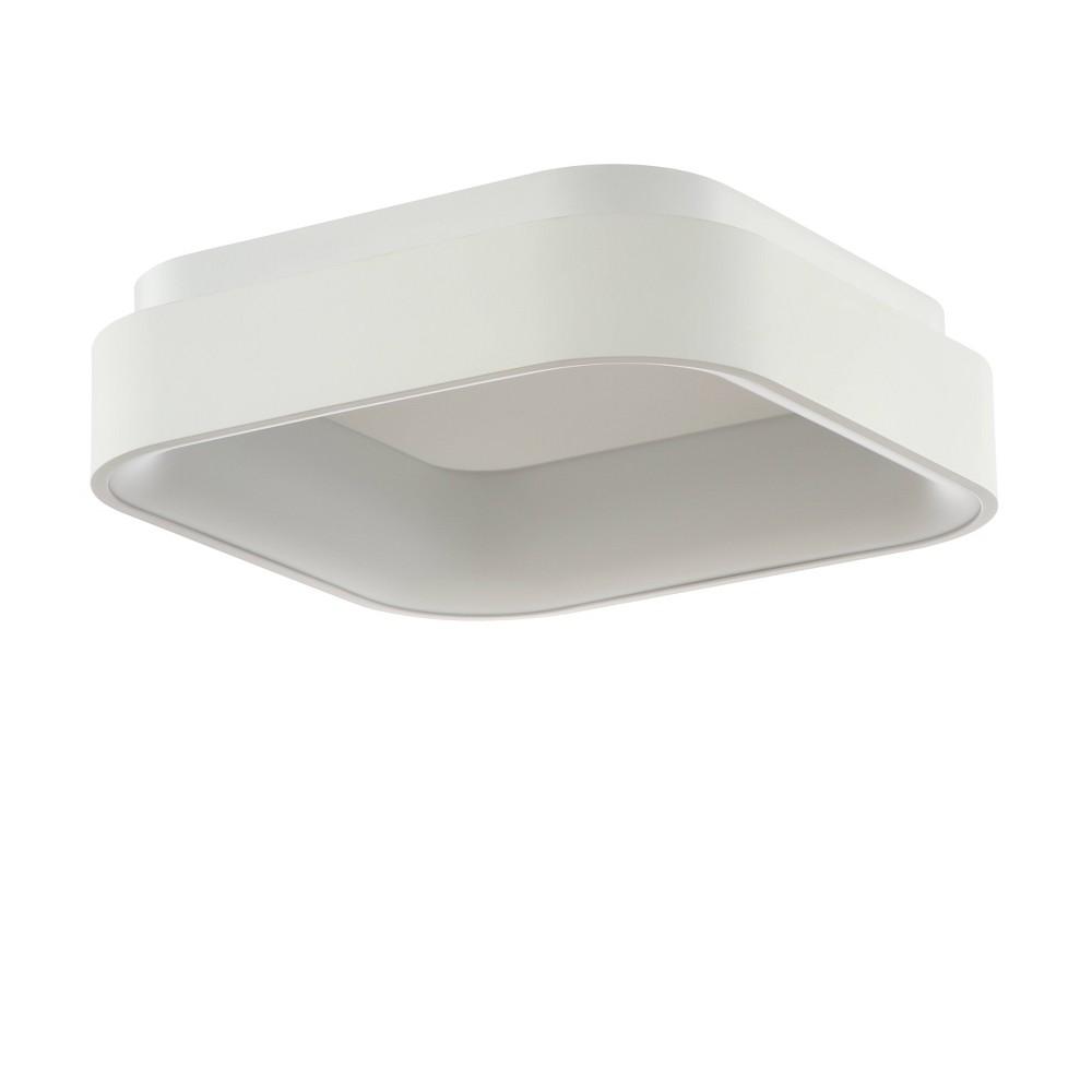 "Image of ""17.75"""" Rafael Integrated LED Metal Flush Mount Ceiling Light White (Includes Energy Efficient Light Bulb) - JONATHAN Y"""