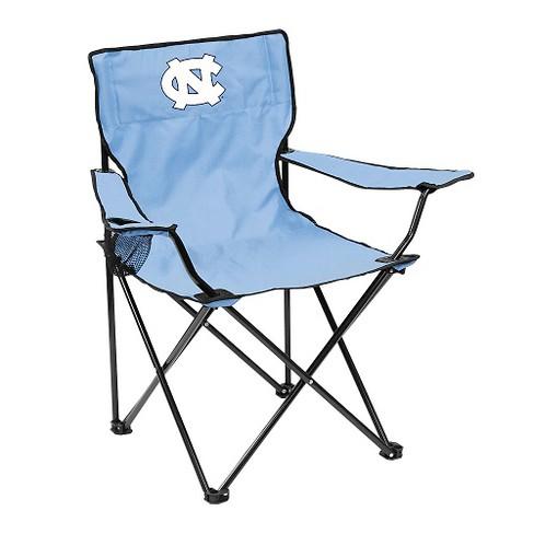 Peachy Ncaa North Carolina Tar Heels Logo Brands Quad Folding Camp Chair With Carrying Case Machost Co Dining Chair Design Ideas Machostcouk