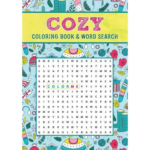 Cozy Coloring Book & Word Search - (Paperback) - image 1 of 1