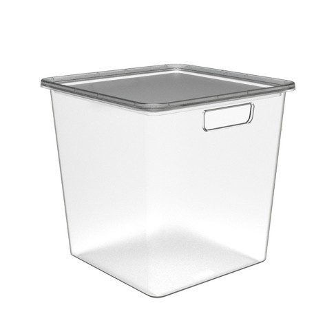 Medium Cube Bin With Lid - Made By Design™ - image 1 of 1