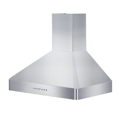 ZLINE KF2-36 36-Inch Mount Wall Range Hood in Stainless Steel with Crown Molding, 2 LED Lights, and 4-Speed Exhaust Fans