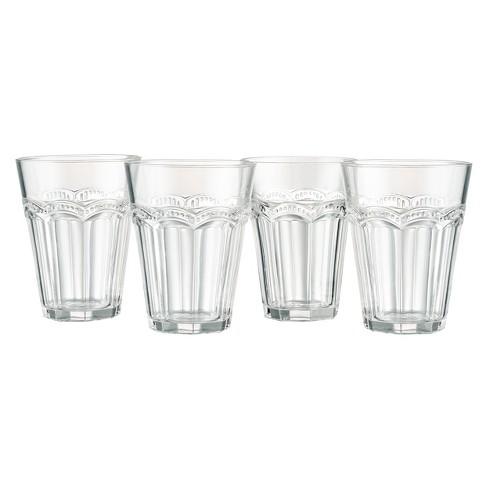 Artland 9oz Pearl Ridge Glass Tumblers Set of 4 - image 1 of 3