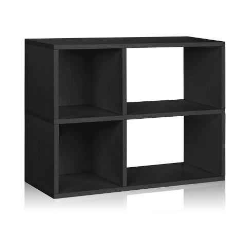 Way Basics 2-Shelf Chelsea Bookcase - Eco Storage Shelf, Black - Formaldehyde Free - Lifetime Guarantee - image 1 of 4