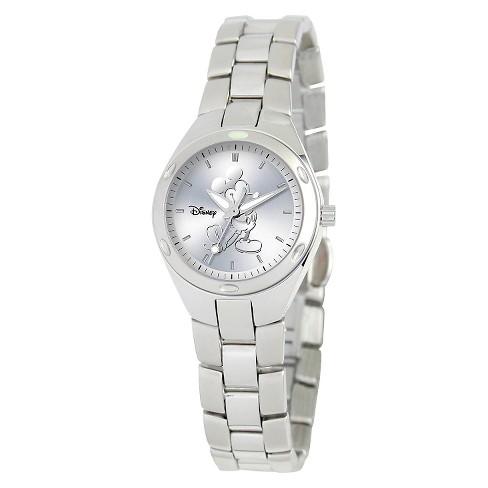 Women's Disney® Mickey Mouse Fortaleza Watch - Silver - image 1 of 2
