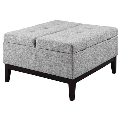 """Coffee Table with Storage 18"""" - Gray - Ore International"""
