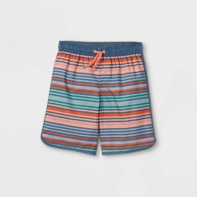 Boys' Dusty Mini Striped Swim Trunks - art class™