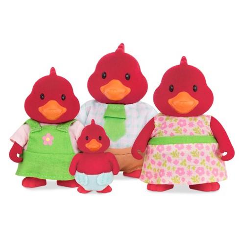 Li'l Woodzeez Miniature Animal Figurine Set - Tailfeather Cardinal Family - image 1 of 3