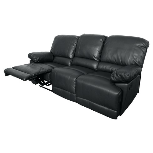 Lea 2pc Black Bonded Leather Reclining Sofa Set Corliving Target