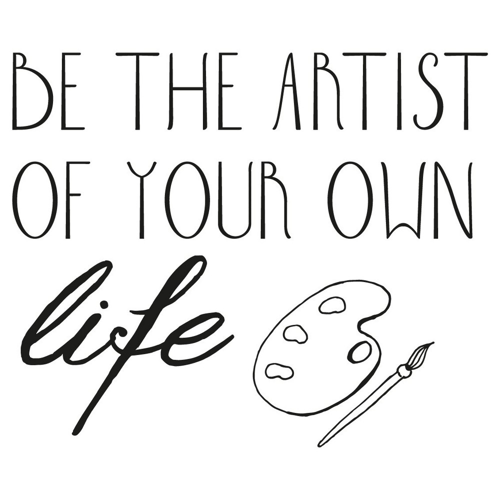 Image of Be Artist Wall Decal - Black