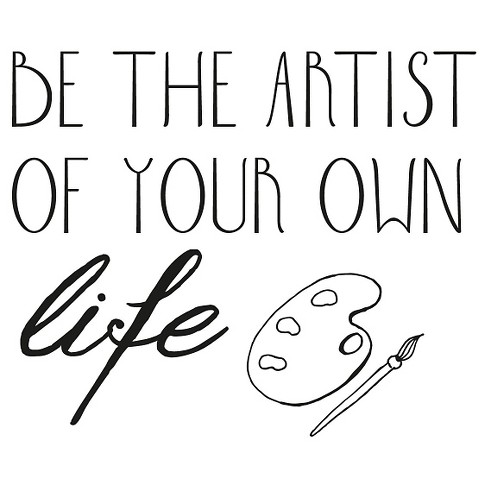 Be Artist Wall Decal - Black - image 1 of 2