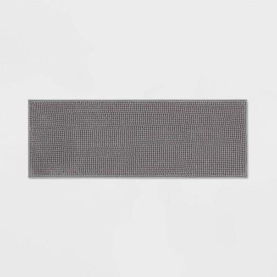 """20""""x58"""" Everyday Chenille Bath Runner Dark Gray - Room Essentials™"""