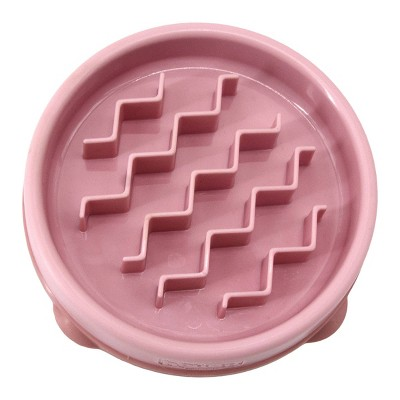 Outward Hound Fun Feeder Slo-Bowl For Dogs - S - Pink