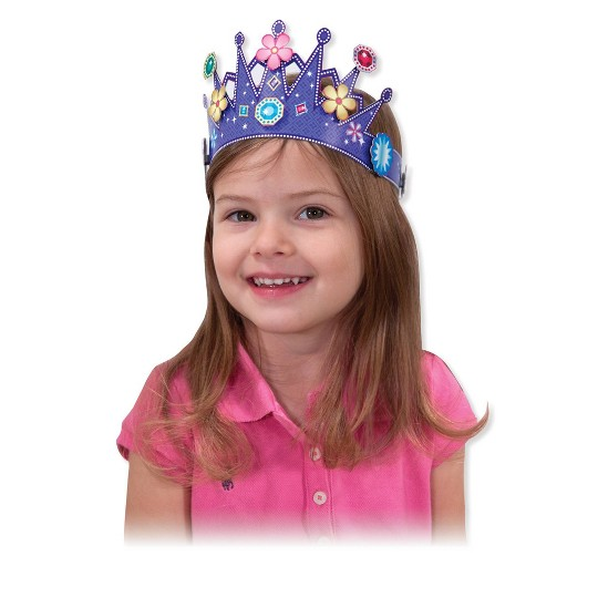Melissa & Doug Simply Crafty Activity Kits Set: Terrific Tiaras, Marvelous Masks, Whimsical Wands (Makes 4 of Each) image number null