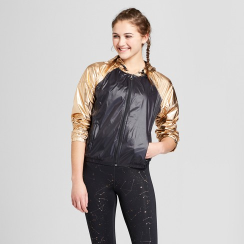 984f0f31e81 Women s Active Metallic Windbreaker - JoyLab™ Black XS   Target