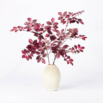 "8"" x 3.5"" Artificial Branch Plant Arrangement in Ceramic Pot Purple - Threshold™ designed with Studio McGee"