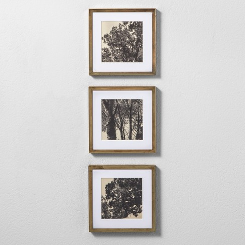 framed wall poster print set of 3 16 x8 hearth hand with