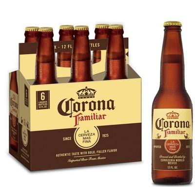 Corona Familiar Lager Beer - 6pk/12 fl oz Bottles