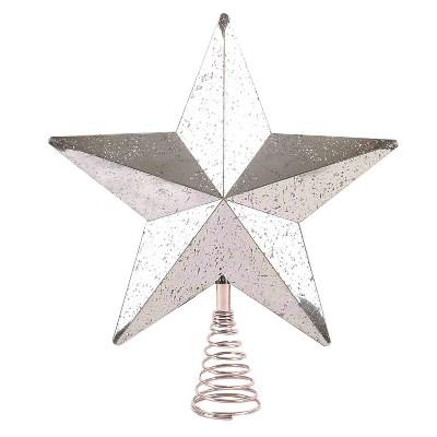 11'' Lit Silver Star Tree Topper Silver - Wondershop™