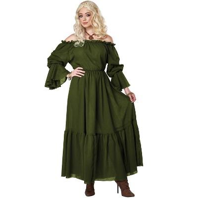 California Costumes Renaissance Peasant Chemise Adult Costume (Green)