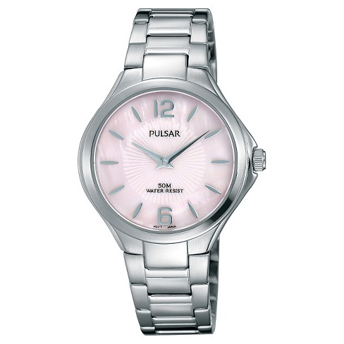 Women's Pulsar Dress Sport Collection - Silver Tone with Pink Mother of Pearl Dial - PM2215 - image 1 of 1