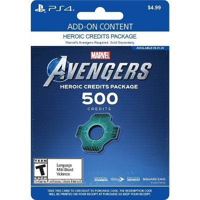 Marvel's Avengers: Heroic Credits Package 500  - PlayStation 4 (Digital)