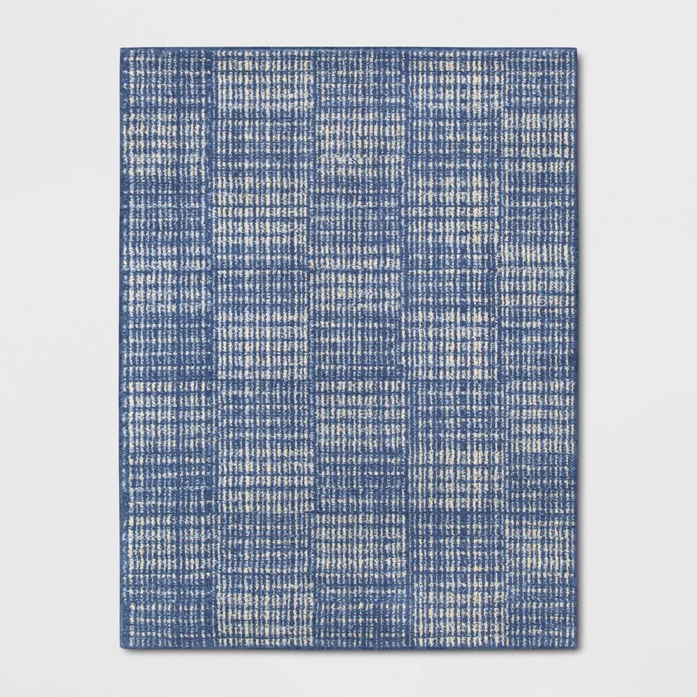 9'X12' Geometric Woven Area Rugs Indigo (Blue) - Project 62