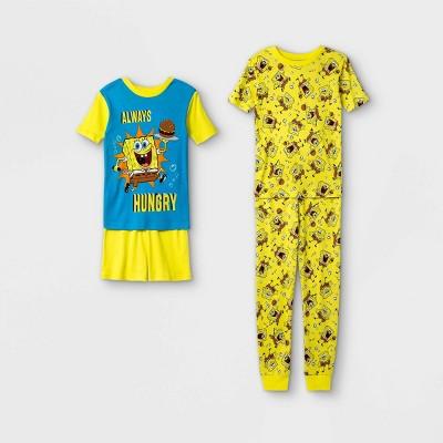 Boys' SpongeBob SquarePants 4pc Pajama Set - Yellow
