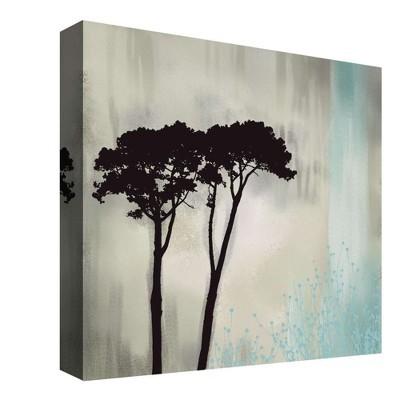Twin Trees Decorative Canvas Wall Art 16 x16  - PTM Images