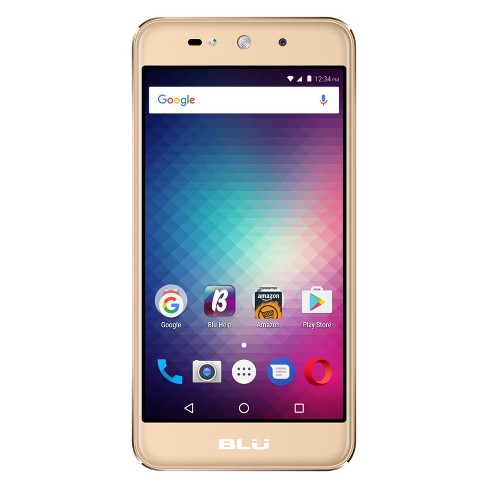 BLU Grand Max G110Q Pre-Owned (GSM Unlocked) 8GB Smartphone - Gold - image 1 of 2