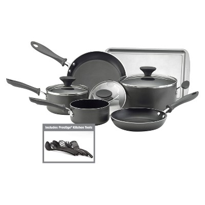 Farberware Reliance Aluminum Cookware 15pc in Set Black