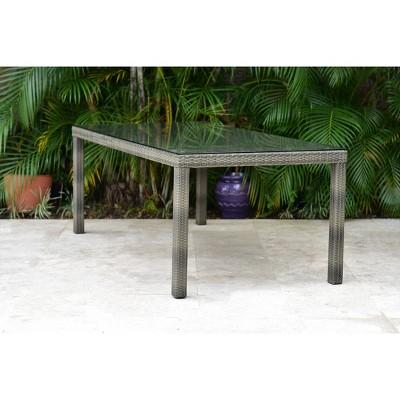 Ferrers Wicker Rectangular Patio Dining Table - Amazonia