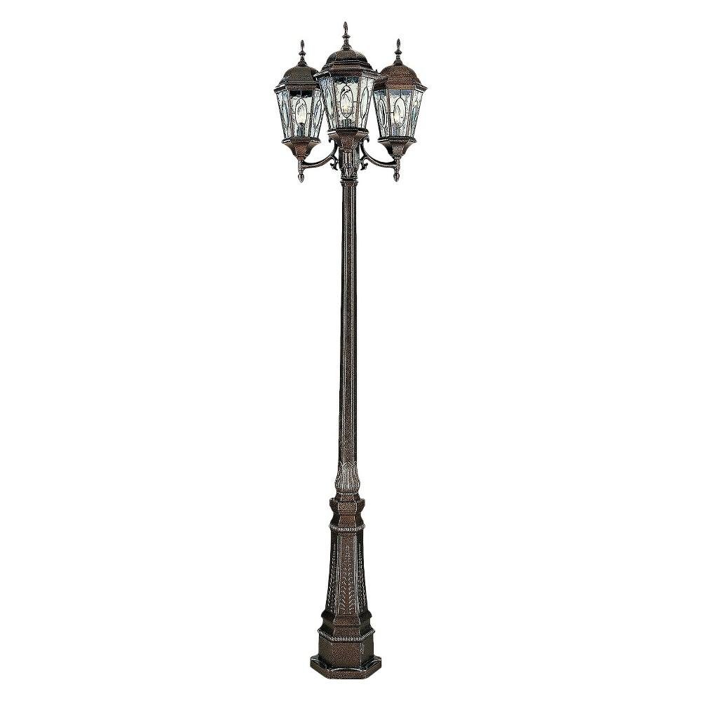 Manhattan 3-Lantern Post Bronze