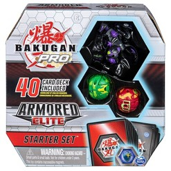 Bakugan Pro Armored Elite Starter Set with Trox Ultra 2 Bakugan and Collectible Trading Cards
