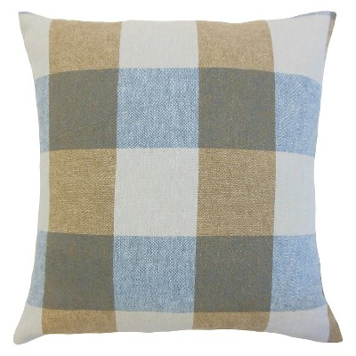 Buffalo Check Throw Pillow Indigo (18 x18 )- The Pillow Collection