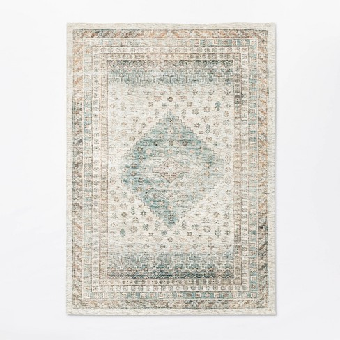 Woven Diamond Persian Rug Neutral - Threshold™ designed with Studio McGee - image 1 of 4