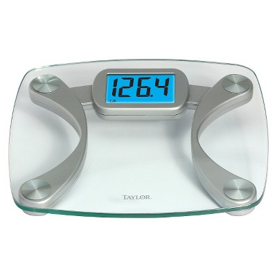 Digital Glass Scale with Blue Backlight Clear/Silver - Taylor