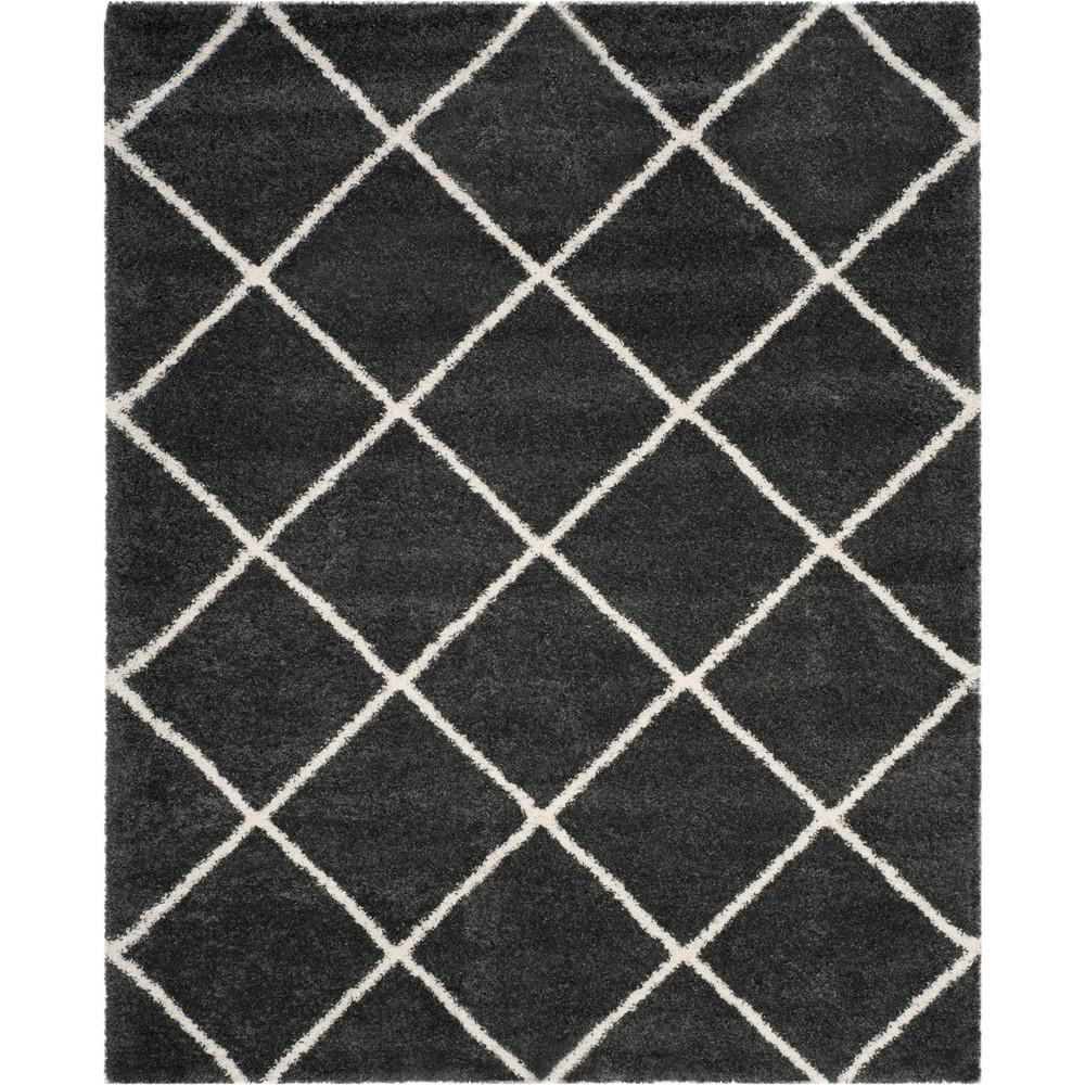 10'X14' Geometric Loomed Area Rug Dark Gray/Ivory - Safavieh