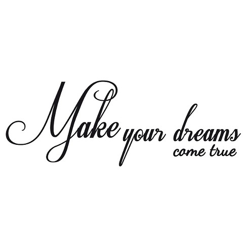 Dreams Come True Wall Decal - English - image 1 of 2
