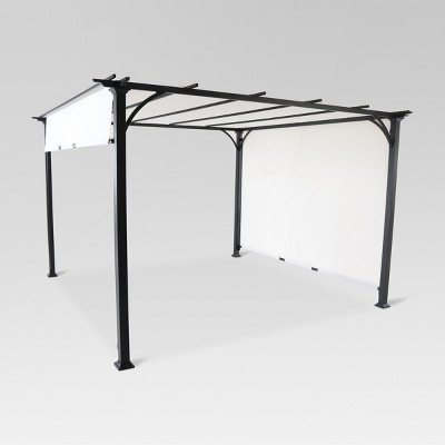 Adjustable Shade Pergola 10' x 10' - Black/Gray - Threshold™
