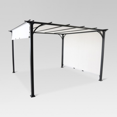 10' x 10' Adjustable Shade Pergola - Black/Gray - Threshold™ - 10' X 10' Adjustable Shade Pergola - Black/Gray -... : Target