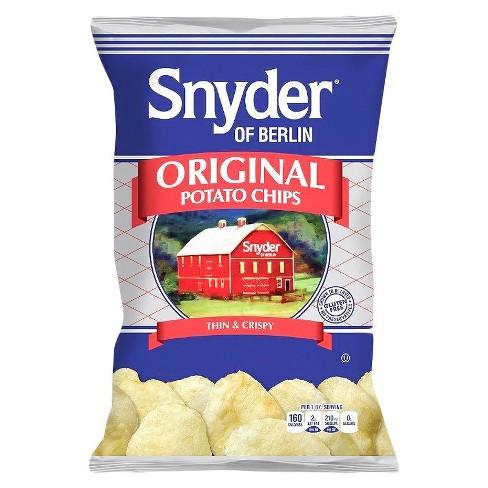 Snyder of Berlin Original Flavored Thin & Crispy Potato Chips - 9.5oz - image 1 of 1