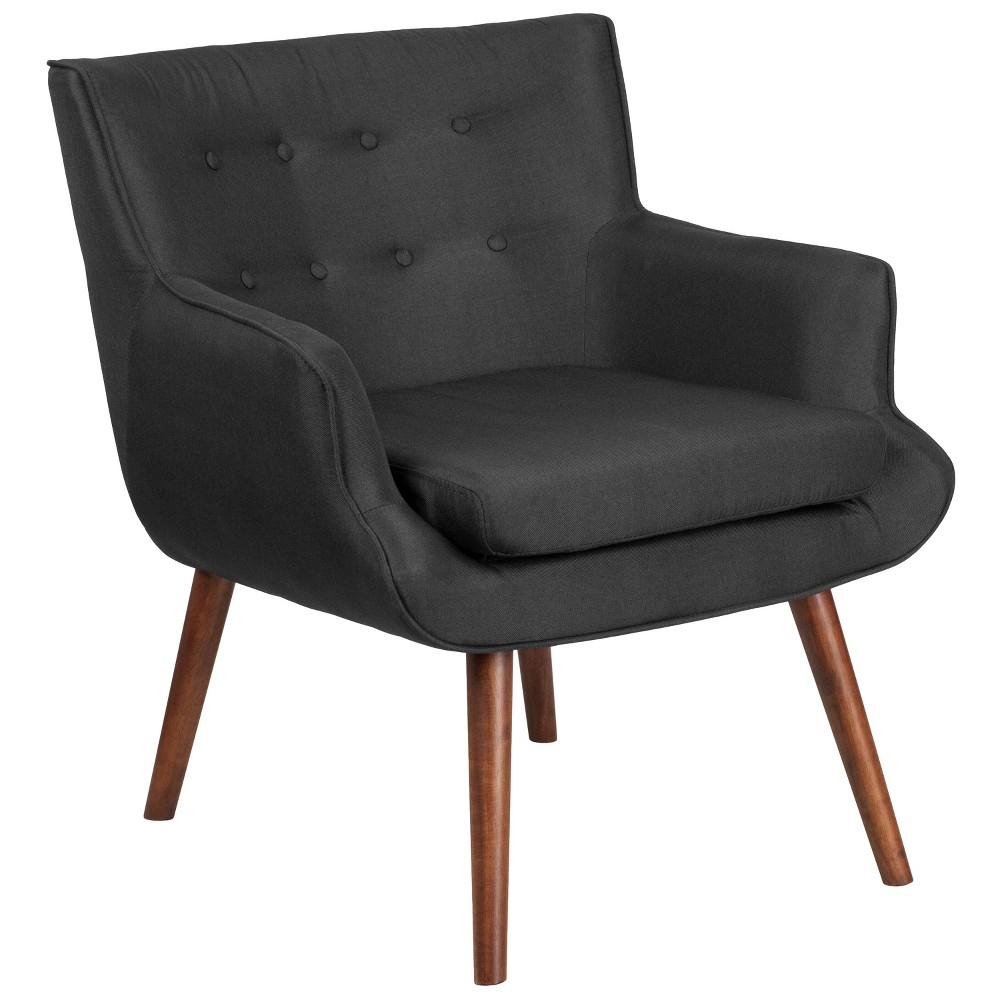 Hercules Hayes Tufted Arm Chair Black - Riverstone Furniture