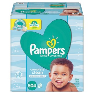 Pampers Wipes Complete Clean (504ct)