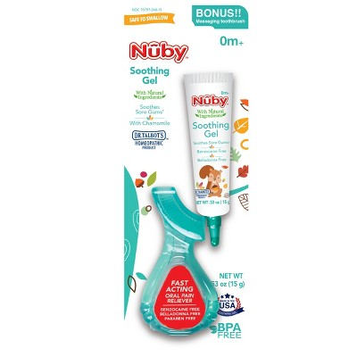 Nuby™ All Natural Teething Gel with Gum Massager