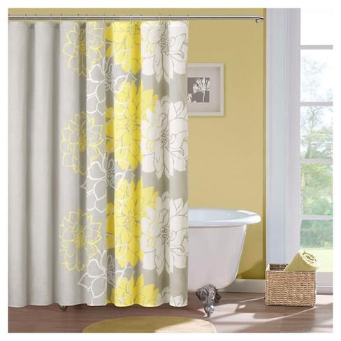 Jane Floral Cotton Shower Curtain Target
