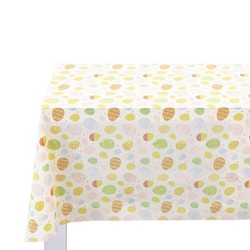Easter Plastic Table Cover With Egg Pattern - Spritz™